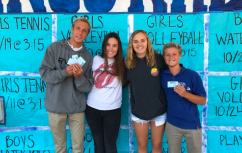 Above is our spirit council section of ASB with Caden Strauss, Sophia Newton, Shae Burger, and Zach Kittleson.