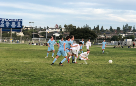 Boys Varsity Soccer's First League game