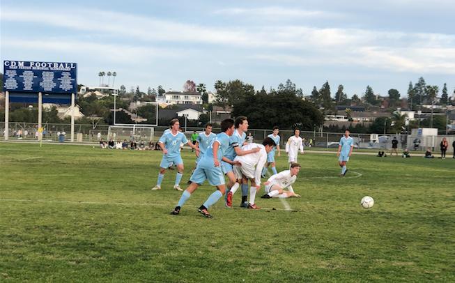 Boys Varsity Soccer's First League game