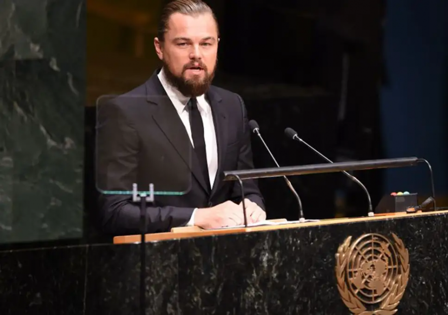 Actor, Leonardo DiCaprio's speech for action on global warming