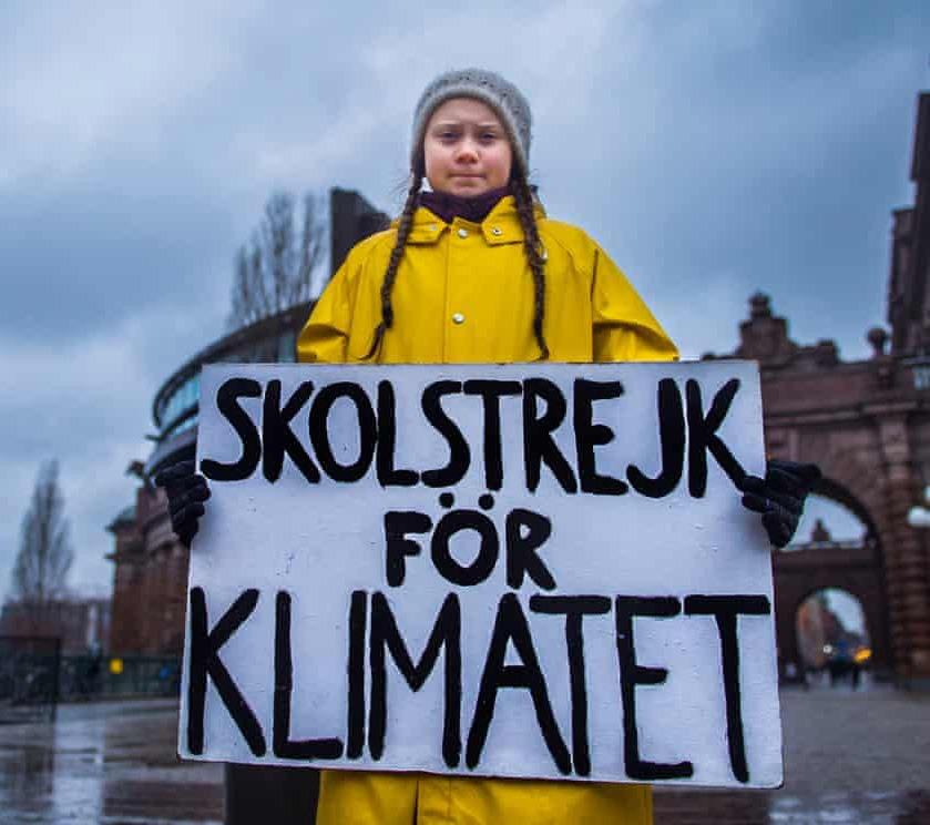 Greta Thunberg's Lone Strike Against Climate Change