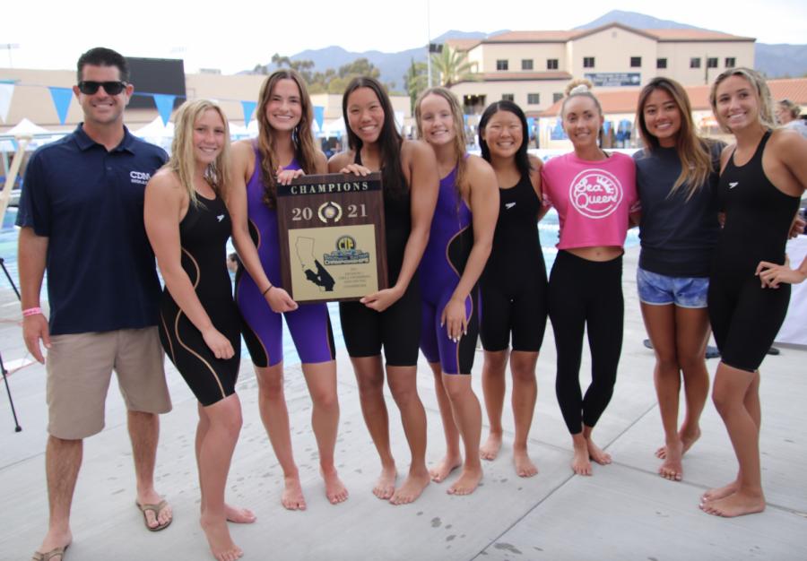 Girls Swim CIF Victory